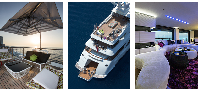 Ocean Paradise is a 55 meters in aluminum and steel and it based on a consolidated and tested Benetti platform