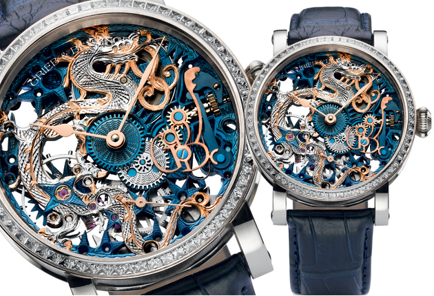 The Grieb & Benzinger Blue Dragon Imperial timepiece