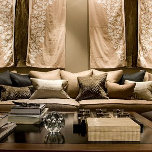 To maintain a soft and harmonic feel, the fabrics must have the light hues and softtones that work with the mind to create the calm that any president would find sublime at the end of an intense day of decision making.
