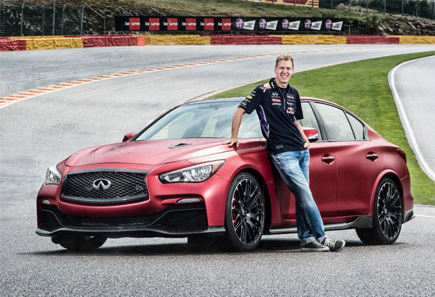 The Infiniti Eau Rouge meets the Belgian Eau Rouge