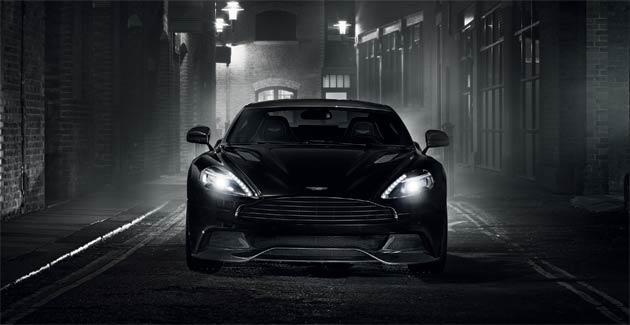 Aston Martin Vanquish Carbon Black and Carbon White