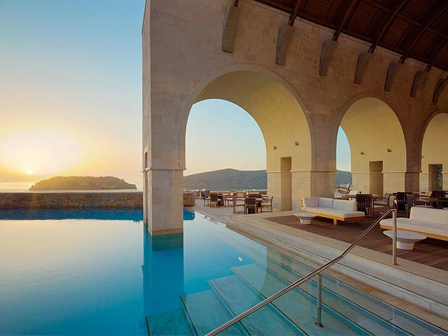 The Blue Palace Of Crete By Sabi Phagura