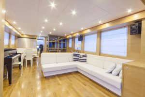 Gamma 20 offers 170 sqm of living space including the lower deck, main deck, fly bridge and walk-around