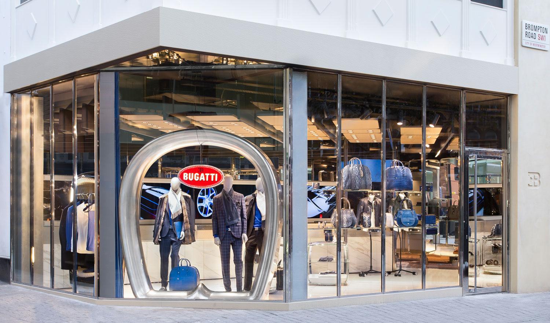 bugatti opens lifestyle boutique in london's exclusive knightsbridge