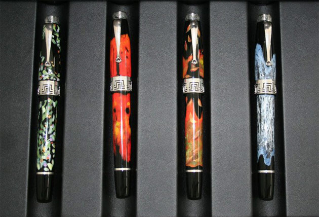 The Four Seasons - A Unique edition of four hand painted pens for Montegrappa by Australian Artist Timothy John
