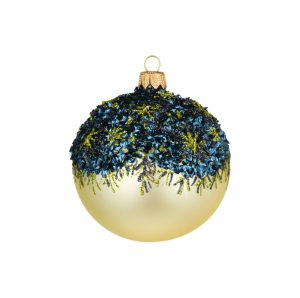 Lizard Orchid Starry Night Large Glass Bauble