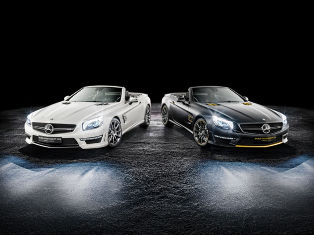 Lewis hamilton and nico rosberg co create sl 63 amg for Mercedes benz creator