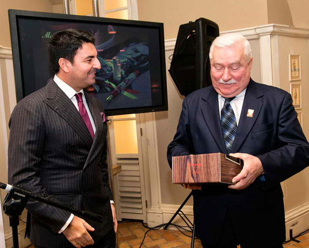 Montegrappa and former President of Poland, Lech Wałęsa
