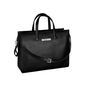 Chopard Houston Briefcase in black calfskin leather