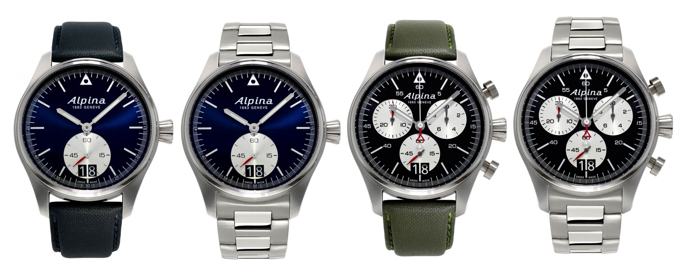The new Startimer Pilot Big Date professional pilot watches from Alpina 4