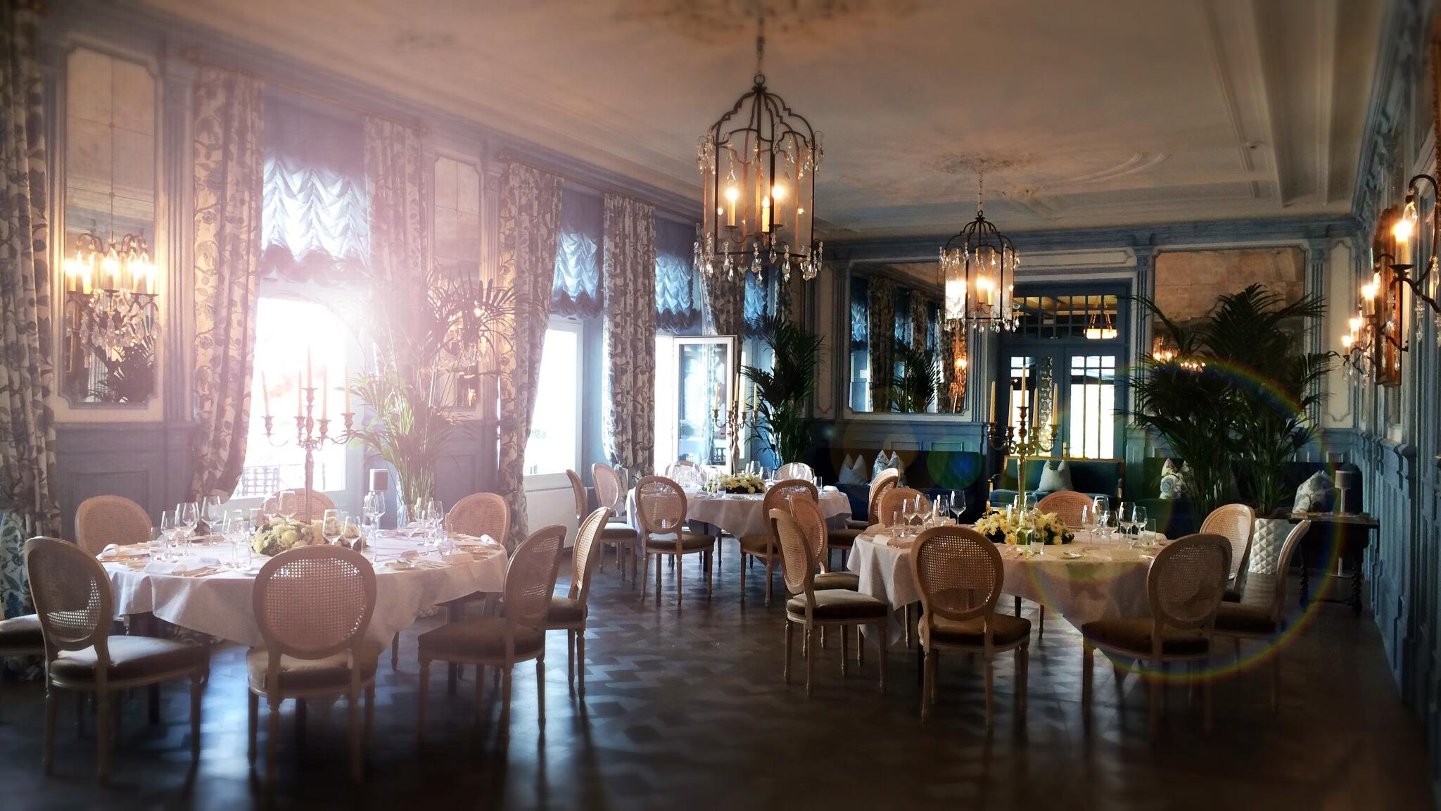 Dining at Lucerne's Château Gütsch