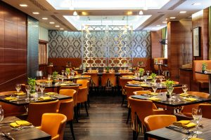 'Umami', the Crowne Plaza London Kensington's in-house eatery