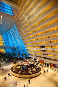 The Marina Bay Sands Hotel Lobby and Drift