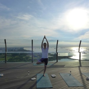 Sunrise Yoga at Marina Bay Sands Hotel