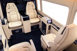 The beautiful interior of the Senzati Jet Sprinter