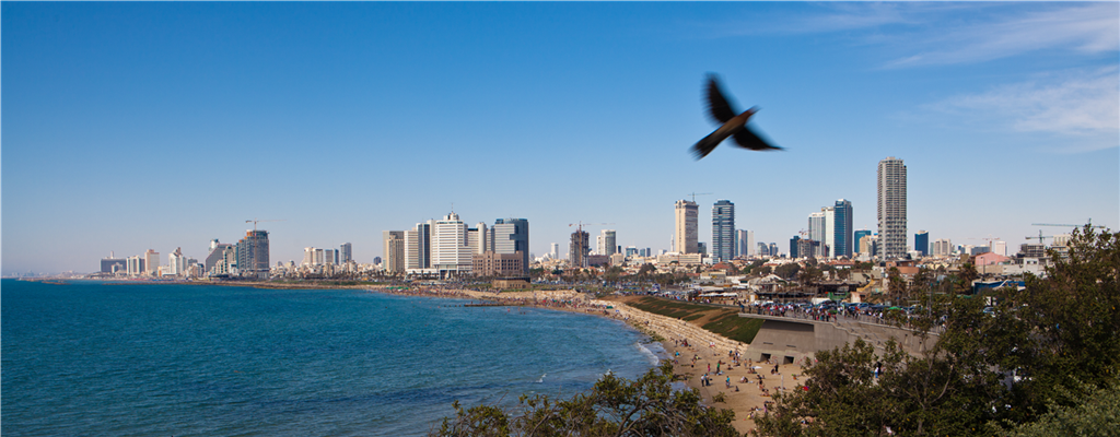 A beautiful view of Tel Aviv beach and hotels. Photographer: Dana Friedlander for thinkisrael.com