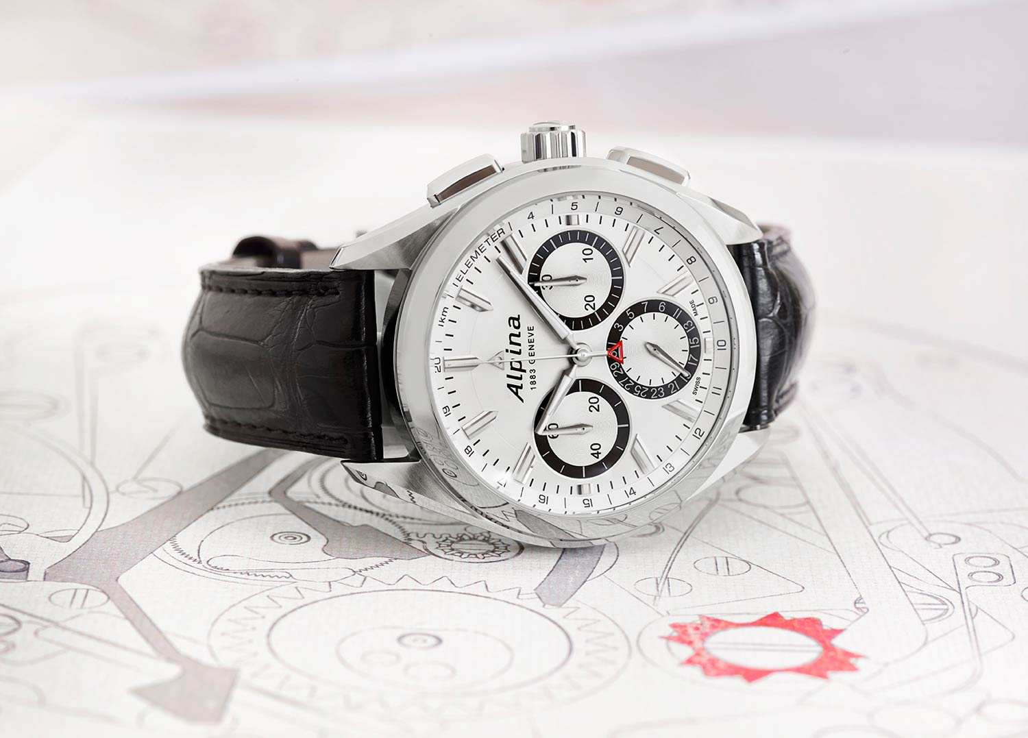 Swiss watch brand Aplina unveil the Alpiner 4 Flyback Chronograph at Baselworld