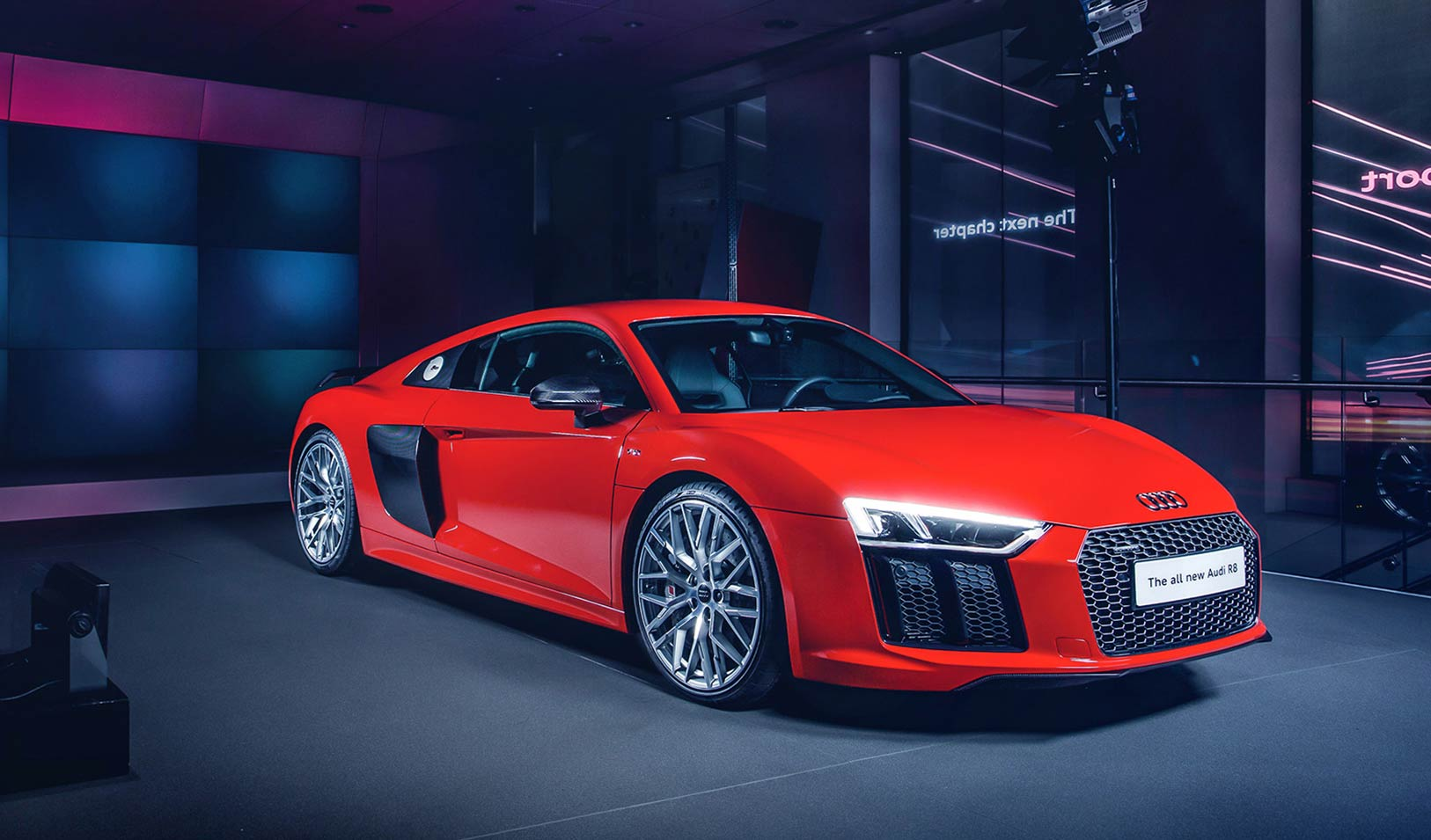 The new Audi R8 supercar is under starters orders