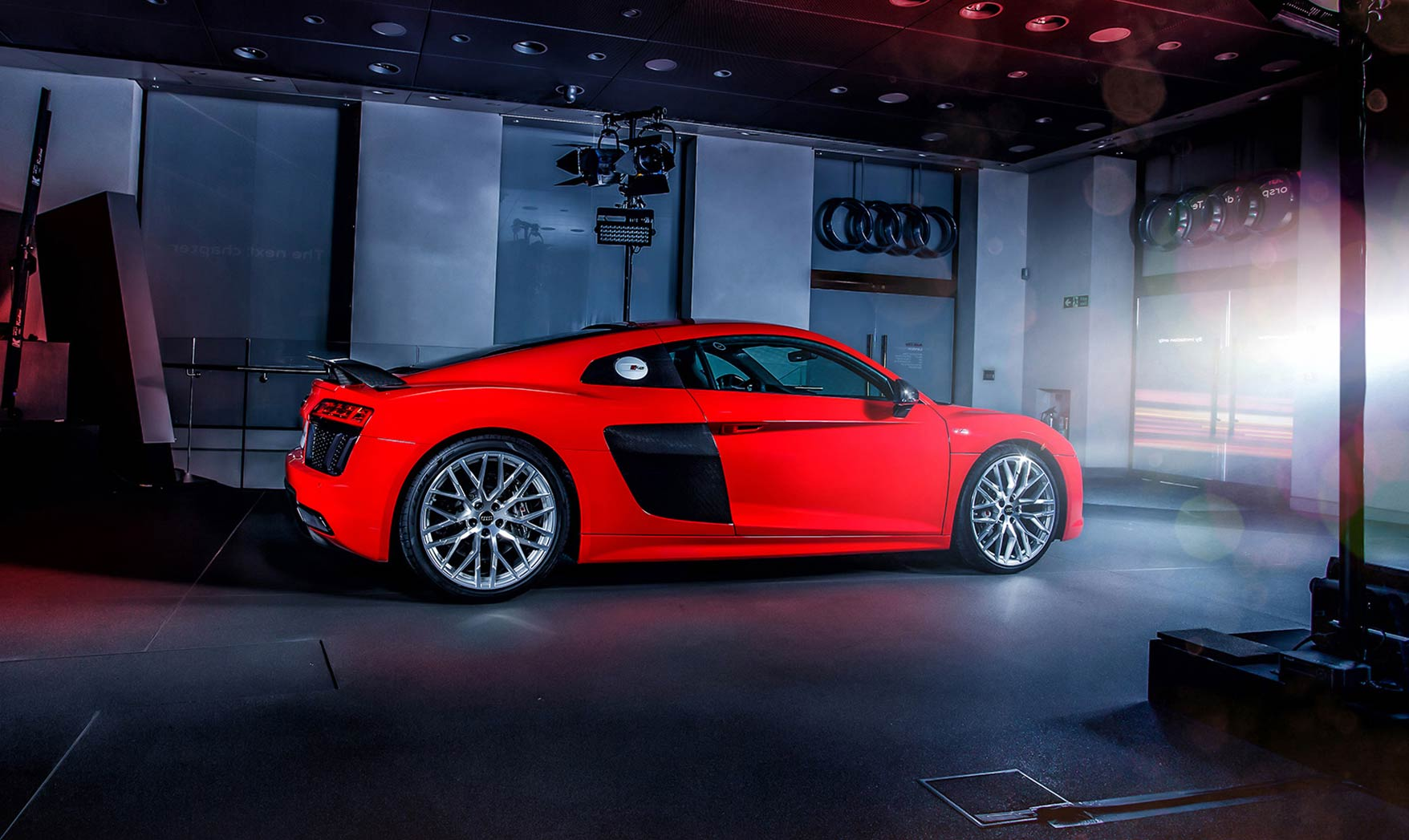 The new Audi R8 supercar