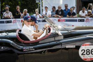 Jodie Kidd and David Gandy at Mille Miglia 2015
