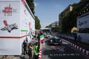 The departure ramp on Viale Venezia at Mille Miglia 2015