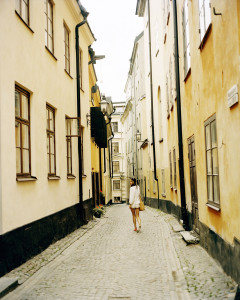 Walking around the beautiful streets of Stockholm