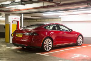 Tesla's all-electric Model S
