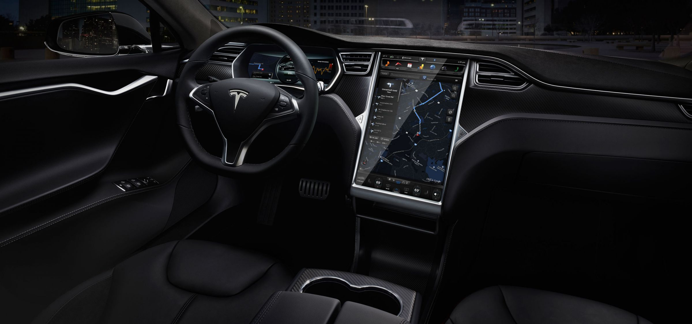 Tesla couldn't have made the car simpler to drive, as there's no gearbox - not even an automatic