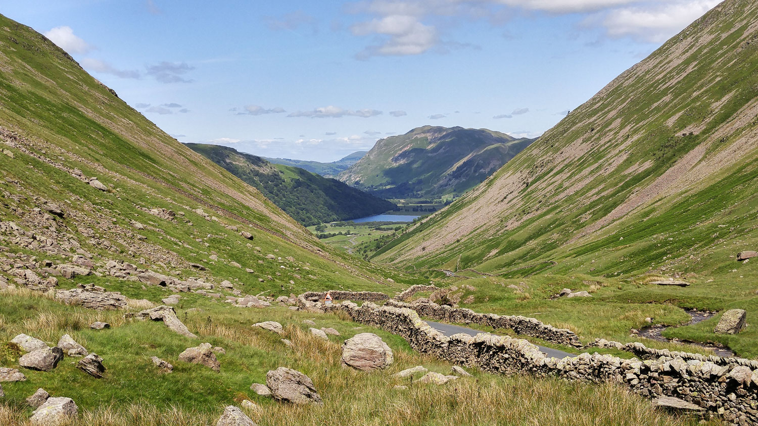 The Kirkstone Pass between Lake Windermere and Ullswater Lake