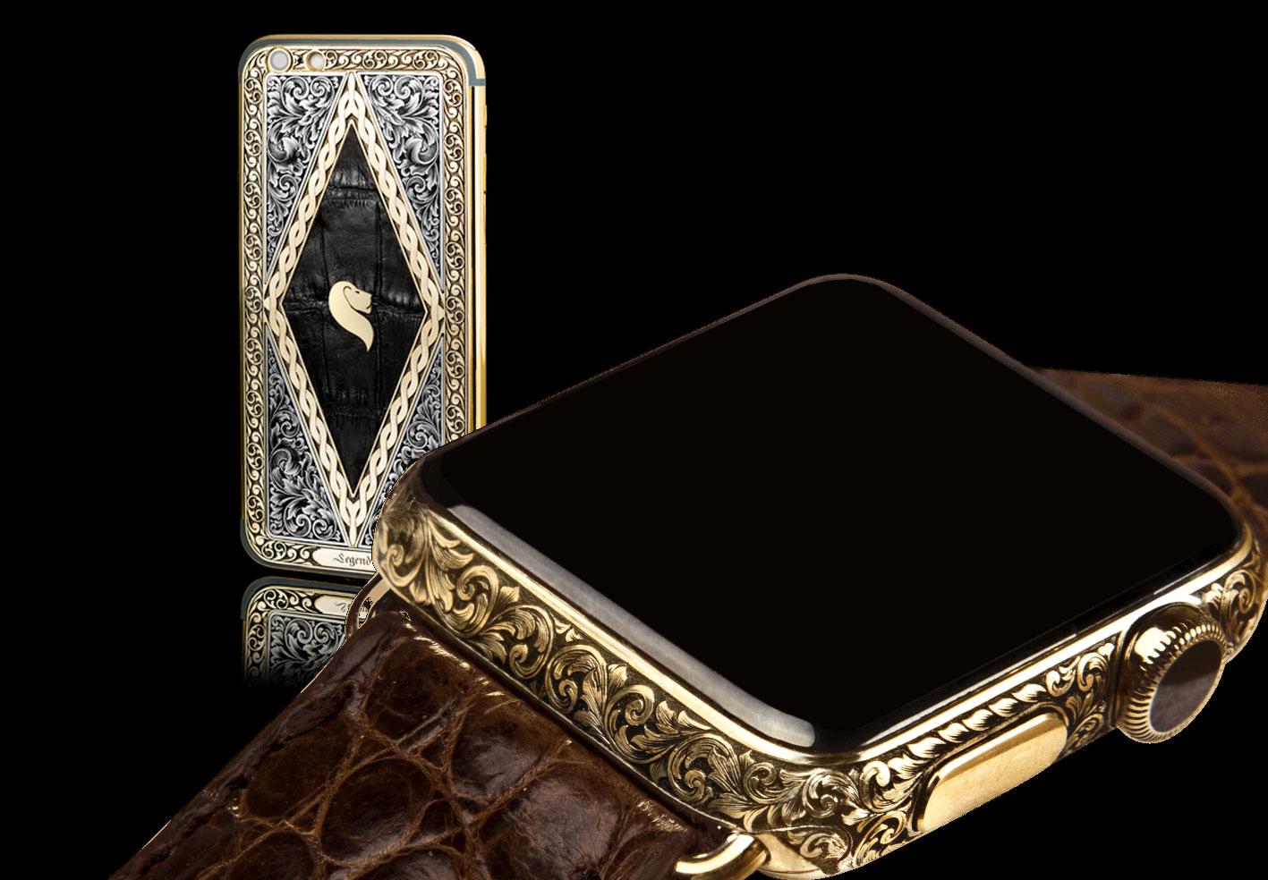 Legend Unveils First Hand-Engraved Luxury Apple Watch