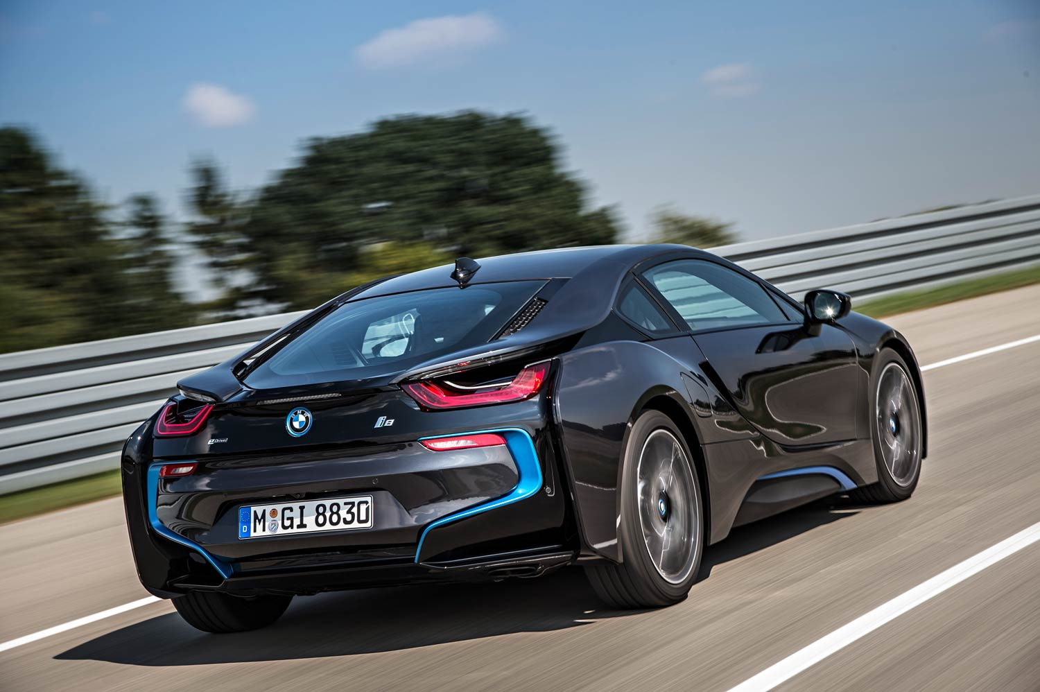 A thousand wows an hour - and 134 miles per gallon -  in the super-sexy hybrid BMW i8 27