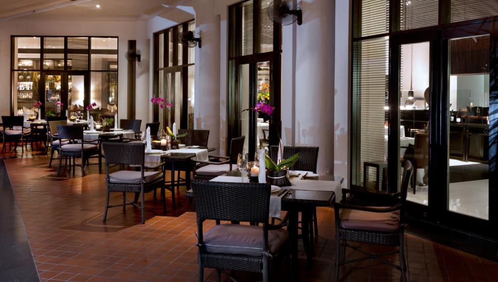 The dining terrace at Club Saujana Resort
