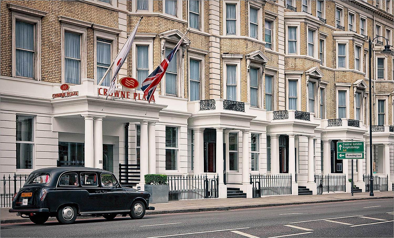 The Crowne Plaza London Kensington with its Victorian stucco façade