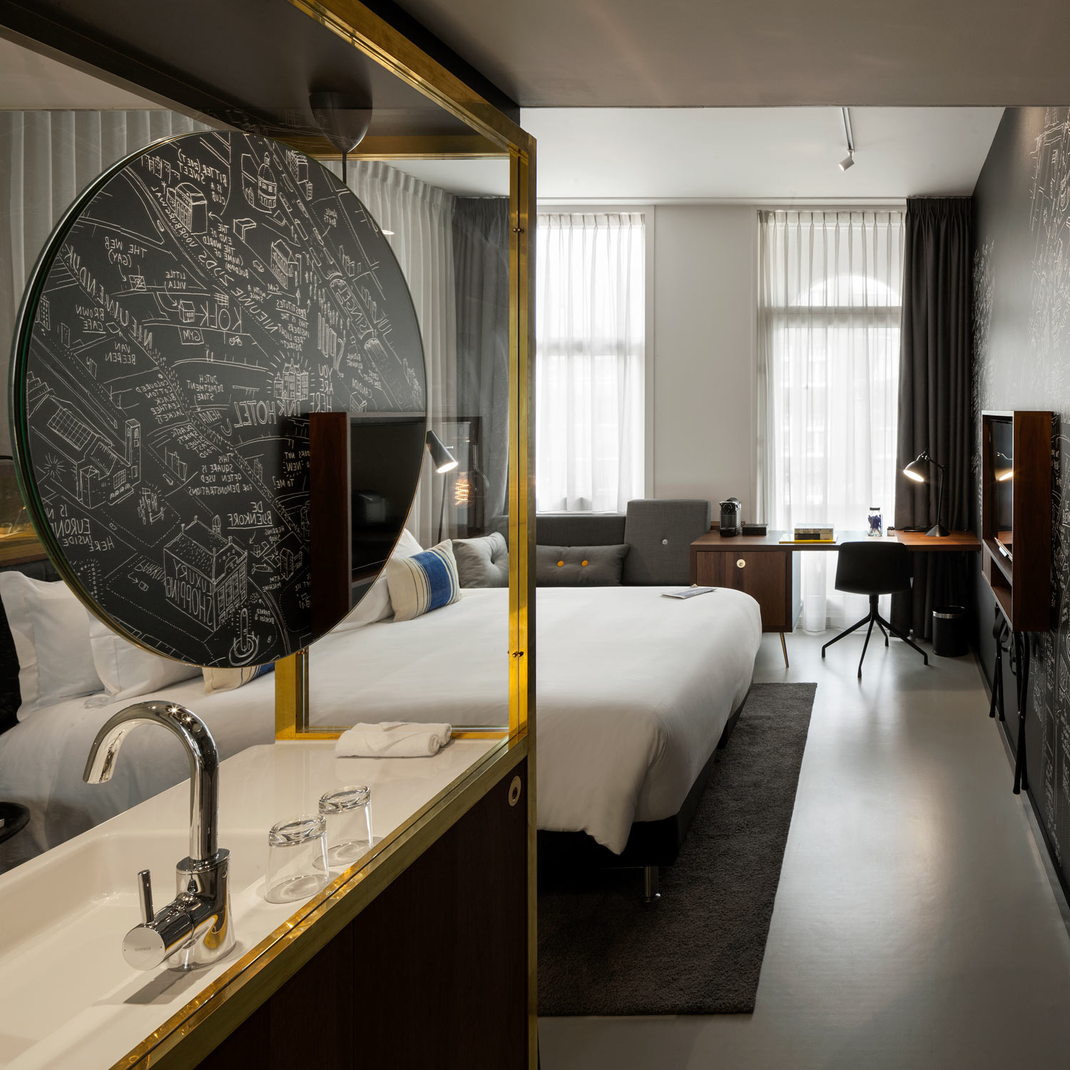 write your story at the ink hotel amsterdam luxurious. Black Bedroom Furniture Sets. Home Design Ideas