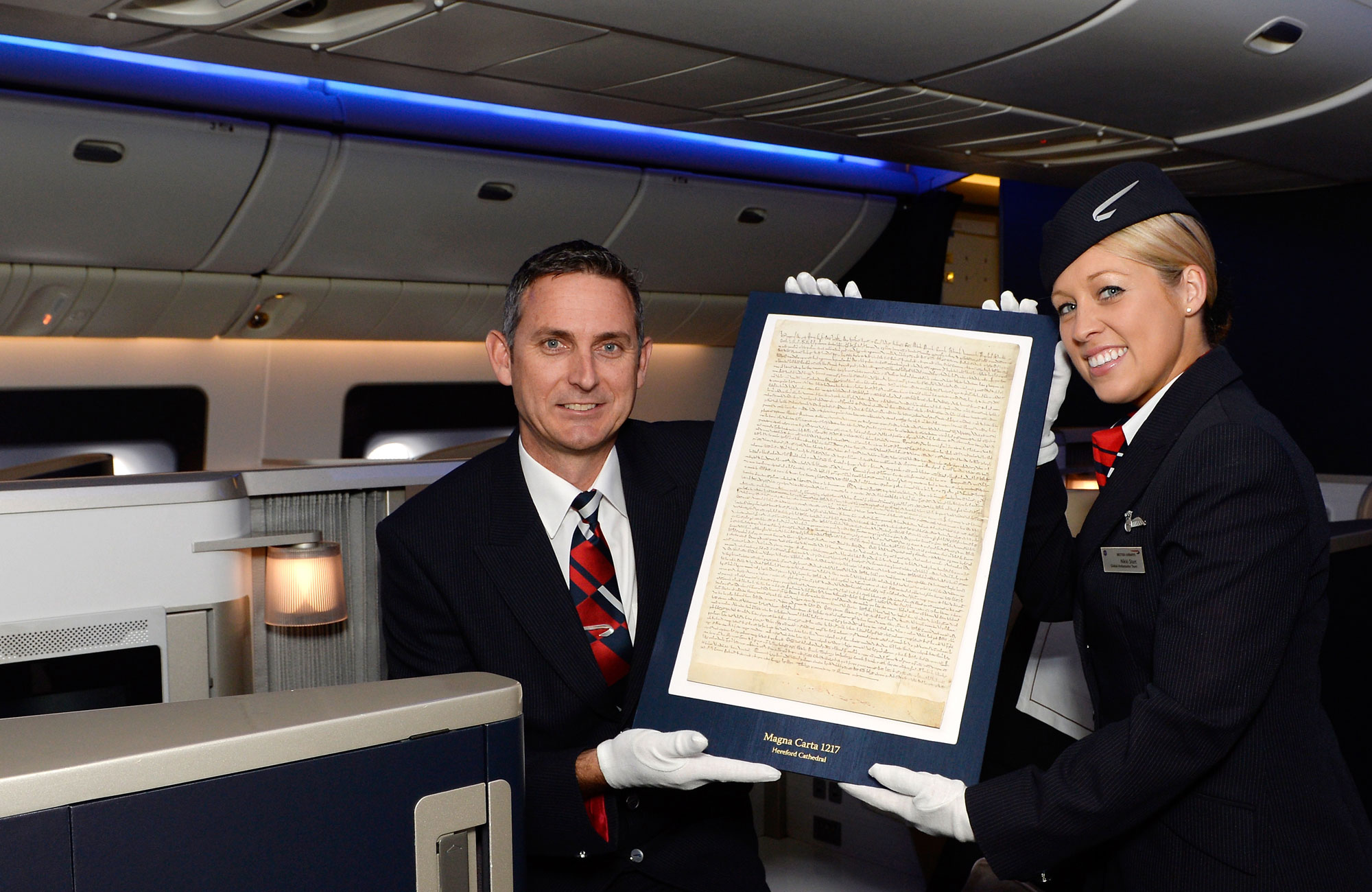 Magna Carta flies First Class with British Airways