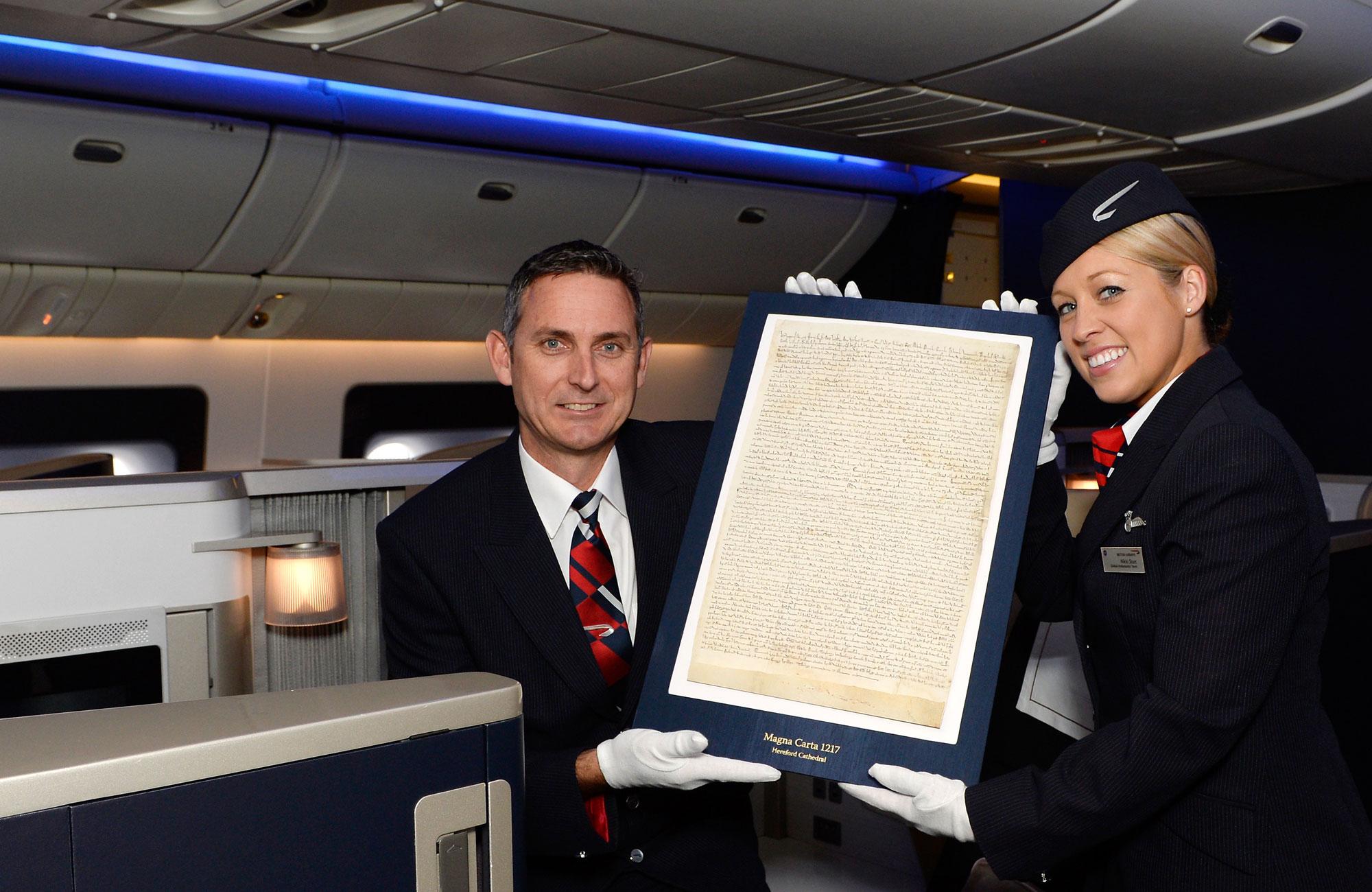 Magna Carta flies First Class with British Airways