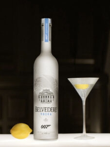 Belvedere has released two custom made and limited editions to celebrate Bond's vodka martini 'Shaken not Stirred', and its partnership with the 24th Bond adventure, the movie SPECTRE.