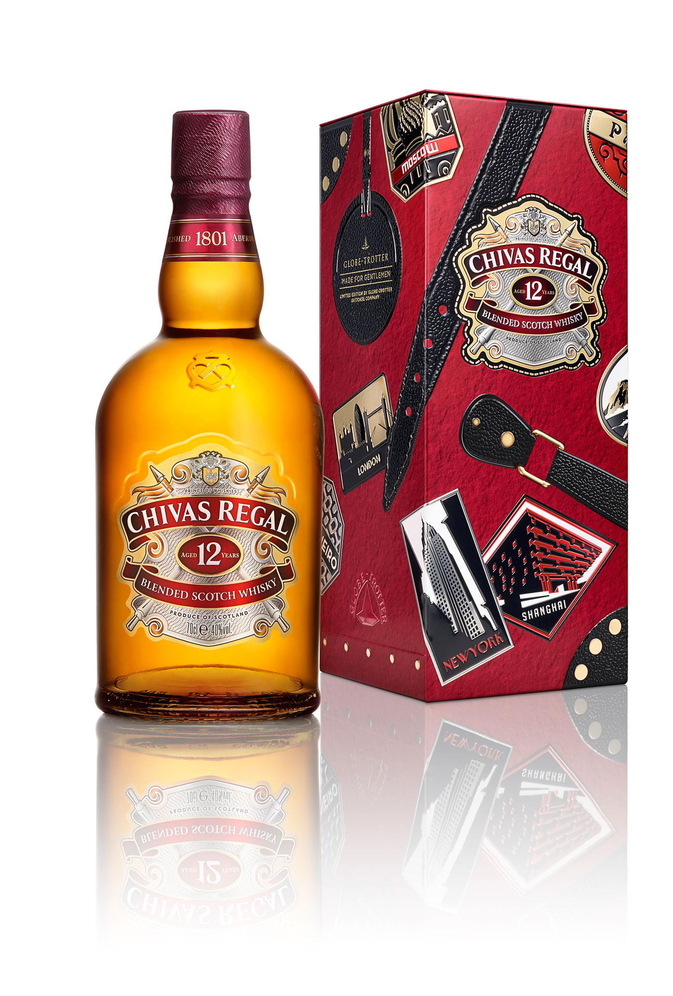 Chivas Regal 12 And Globe Trotter Limited Edition Collectibles