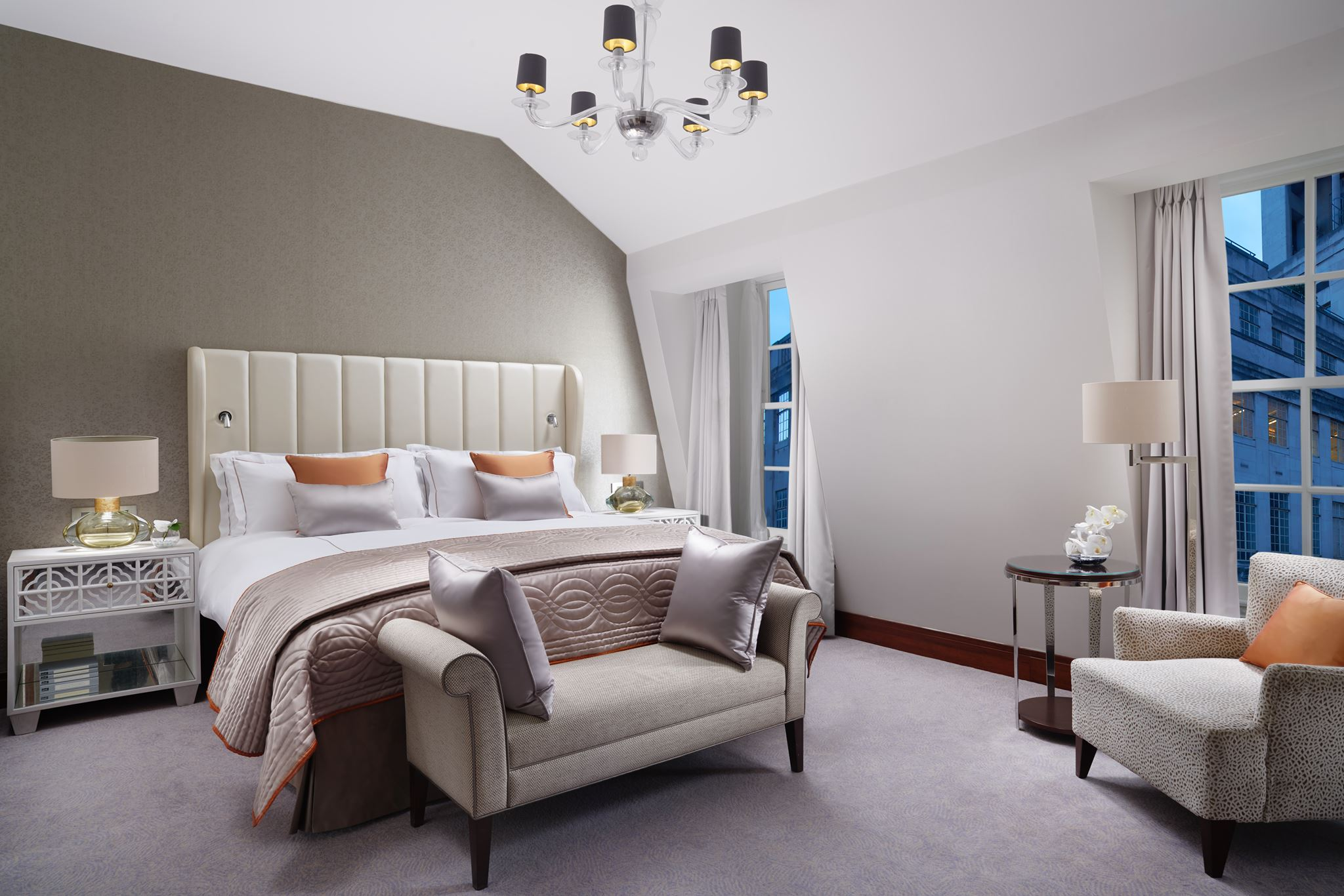 One of the excellent rooms at the Conrad London St James