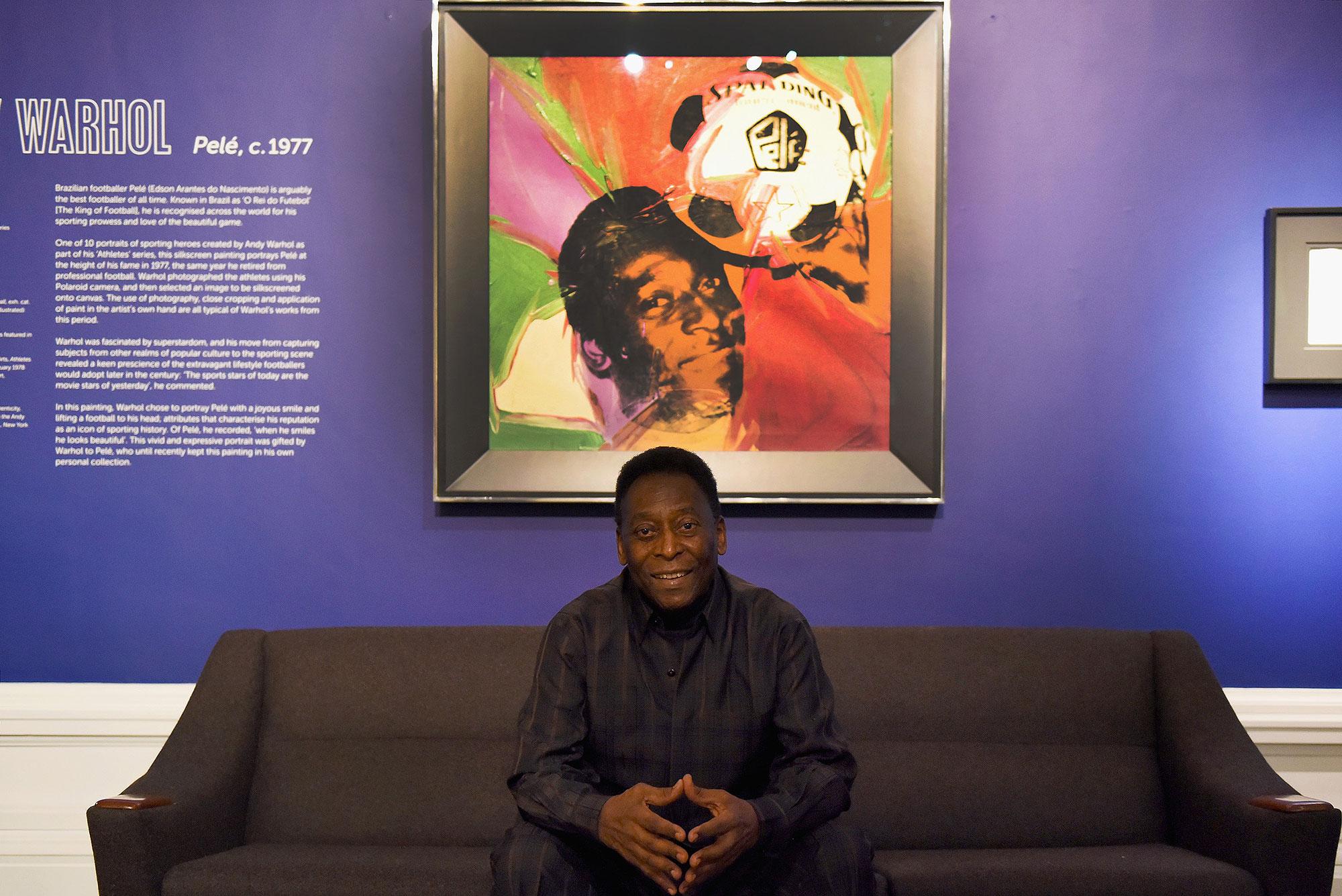 Warhol's original painting Pelé (1977)