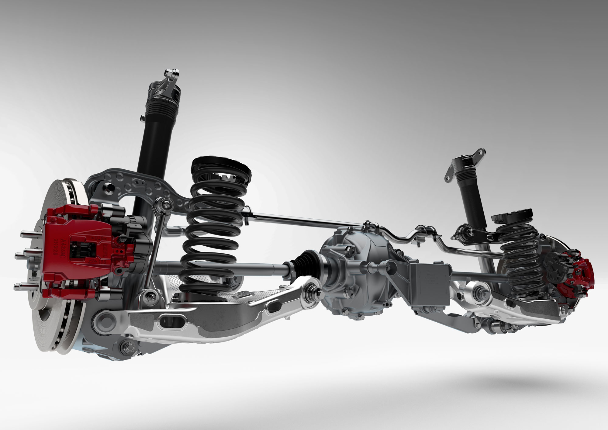 Double Wishbone Front And Integral Link Rear Suspension For Exceptional Handling Ride Comfort