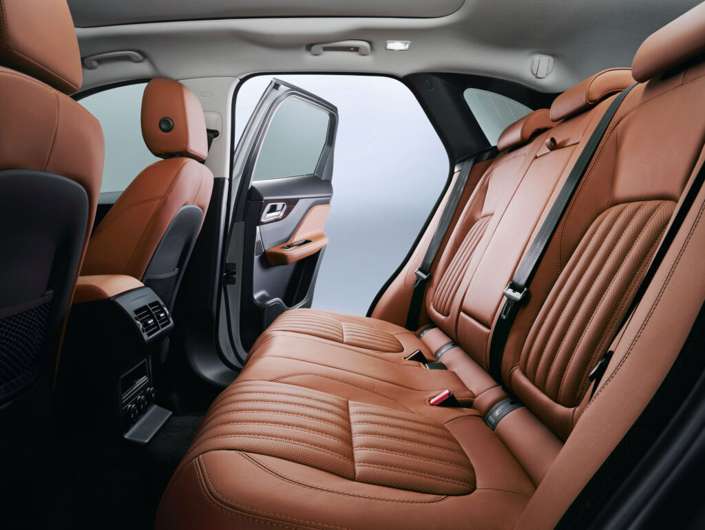 Passengers are well catered for with ample room inside the Jaguar F-Pace
