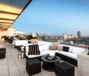 The Radio Rooftop Bar at the five-star ME London hotel