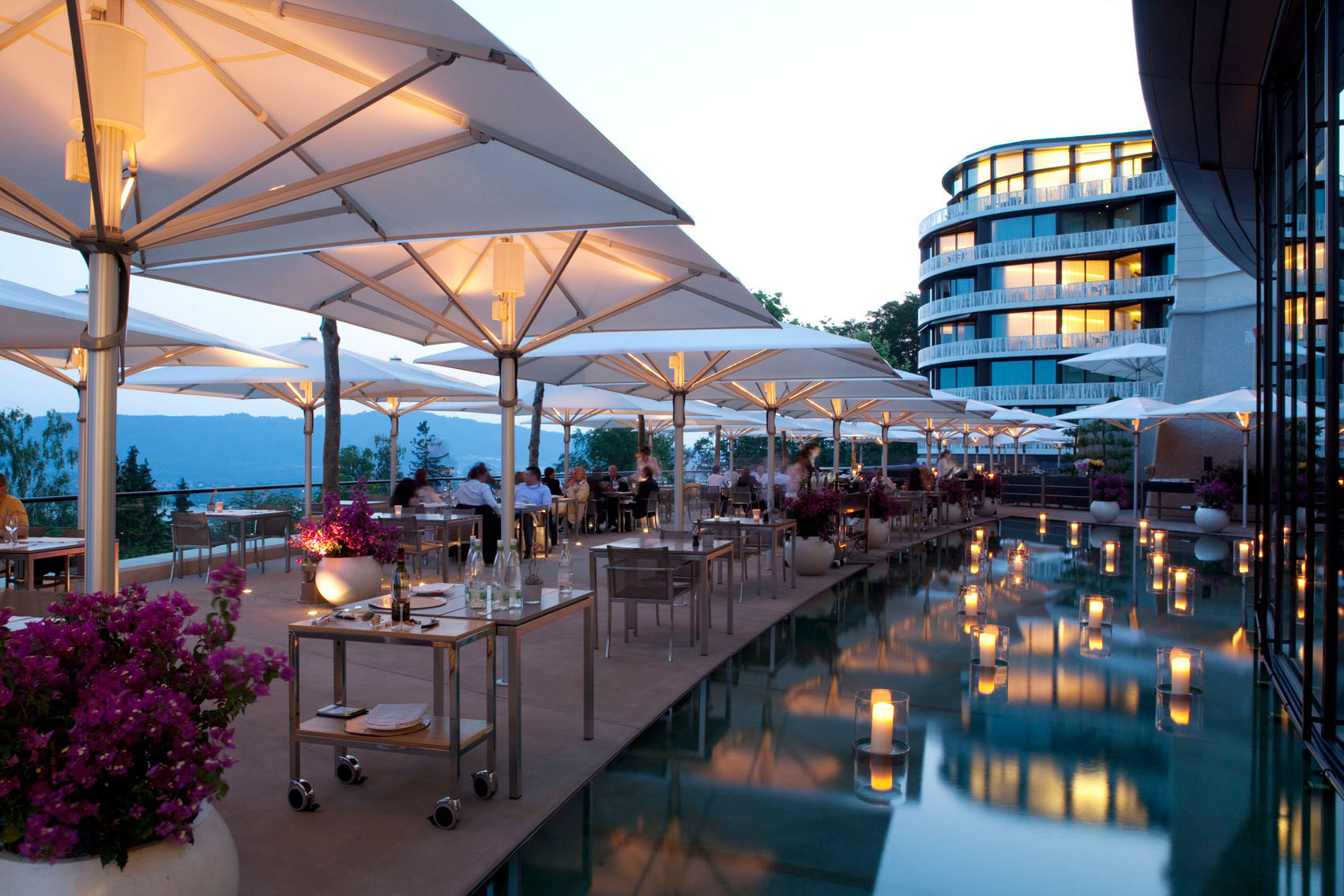 A luxury swiss city break and the zest of zurich for Open terrace restaurants
