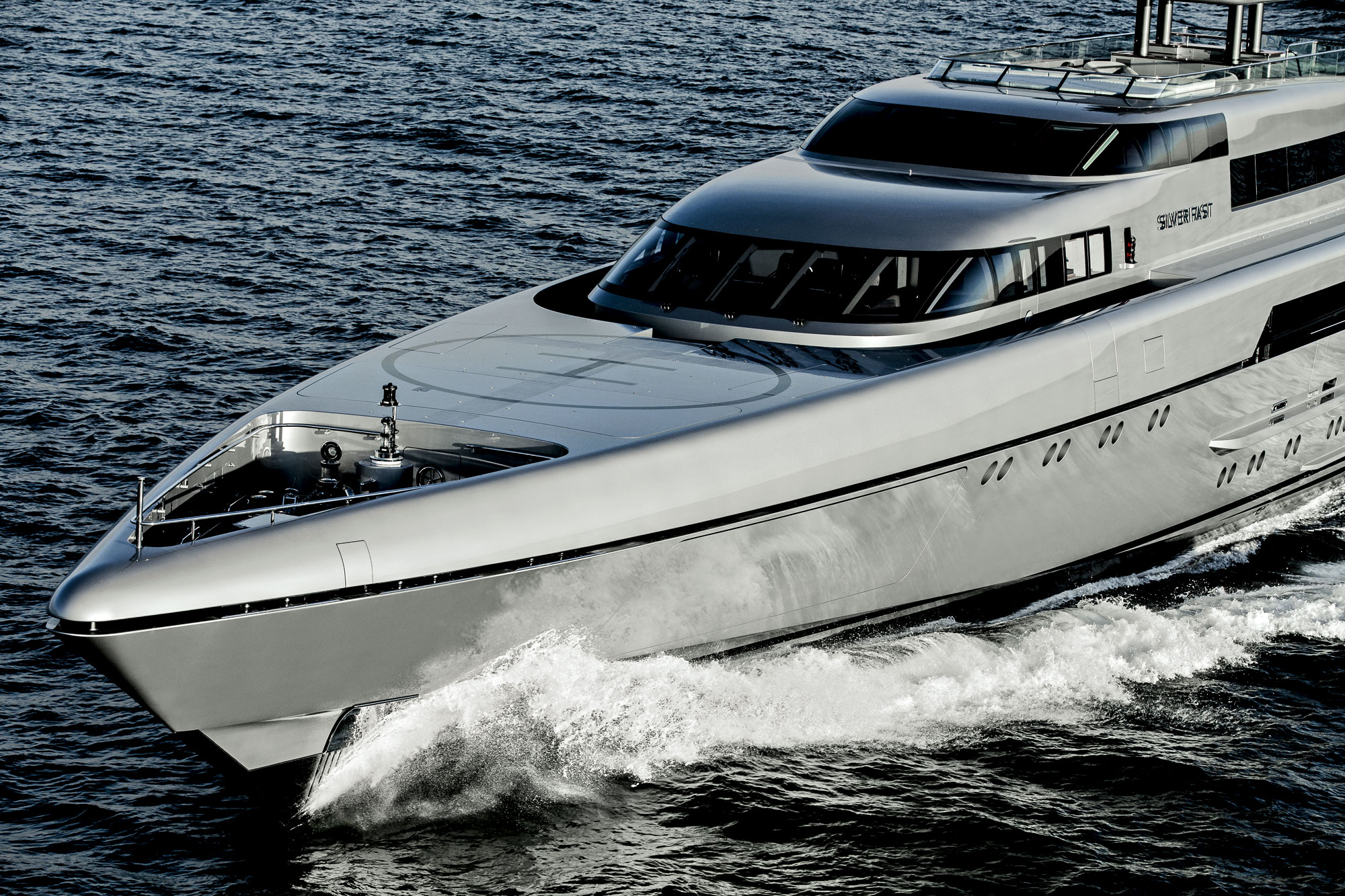 The 77 metre Silveryachts SILVER FAST - The world's largest and fastest aluminium motor yacht