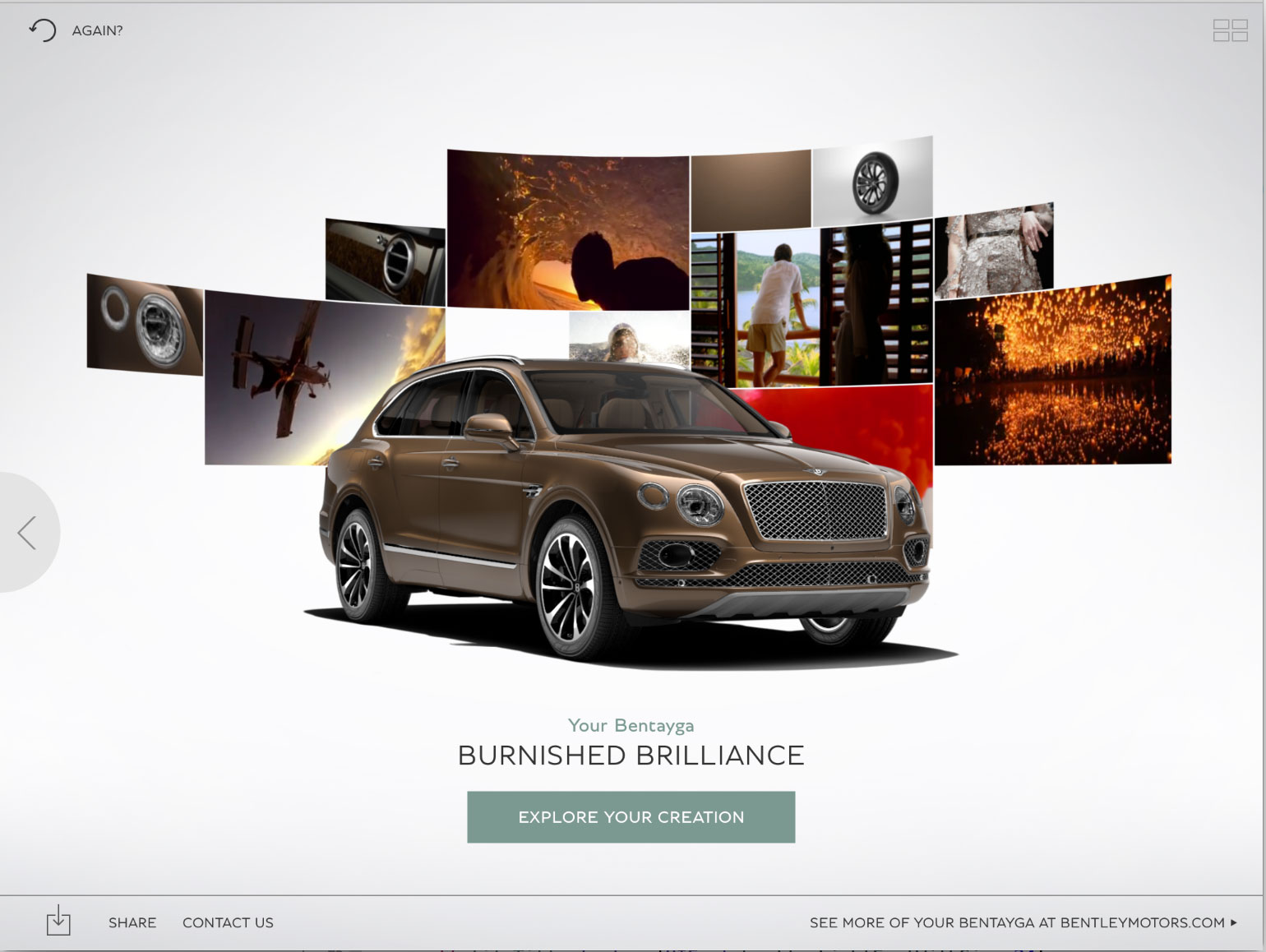 You can find the Bentley Inspirator app on the App Store and run it again and again