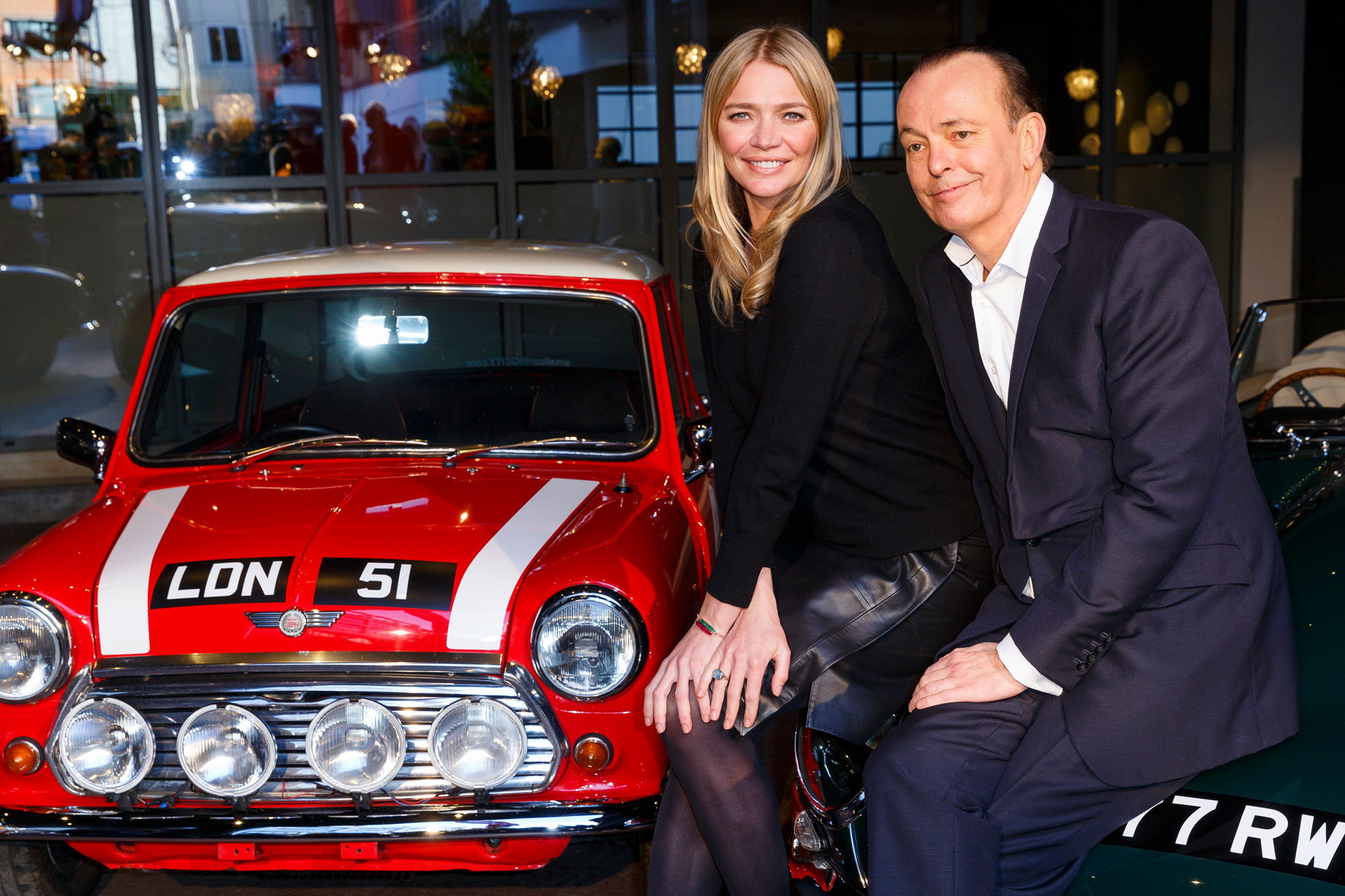 Co-Presenters of the Classic Car Show Quinten Wilson and Jodie Kidd