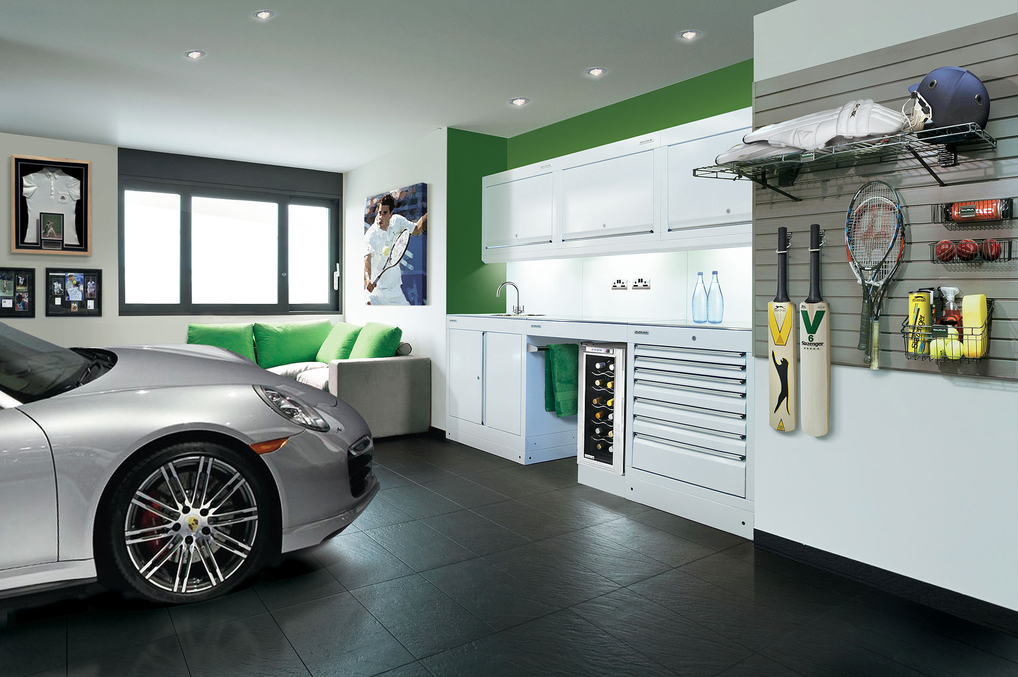 Garage interiors design ideas pictures remodel and of 3 for Garage design ideas gallery