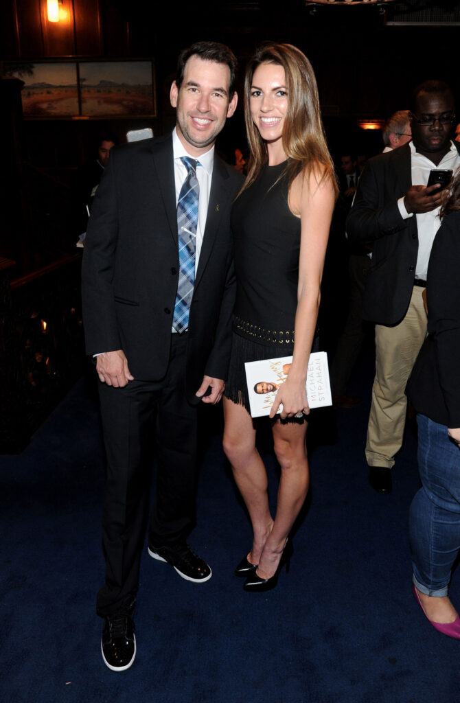 Doug Ellin screenwriter and creator of the HBO television series and feature film Entourage with fiance Maddie Diehl