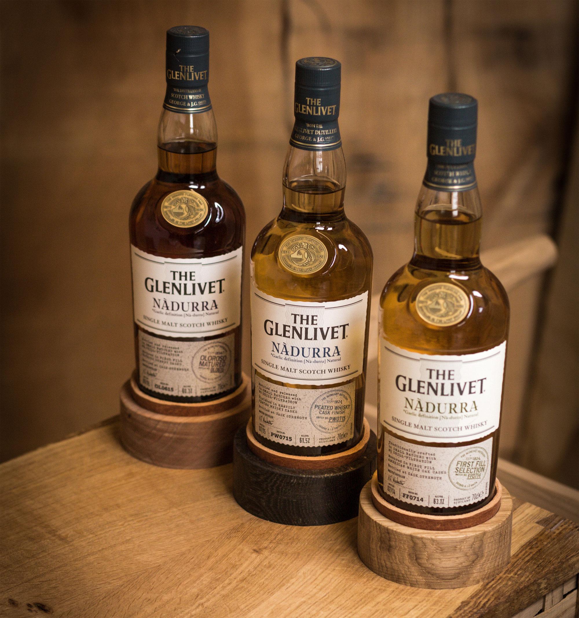 The Glenlivet Nàdurra range of three expressions